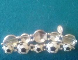 COOKIE LEE Soccer Ball Stretch Bracelet - $11.88