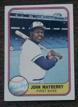 John Mayberry, Blue Jays,  1981  #416  Fleer Baseball Card - GDC CONDITION - $2.96