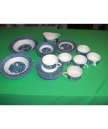 Vintage 29 Pc Lot Royal China USA Currier & Ives Bowls Plates Cups - $84.15