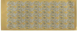gold cakes  theme mixed sheet of peel off stickers  ideal cards, papercraft,