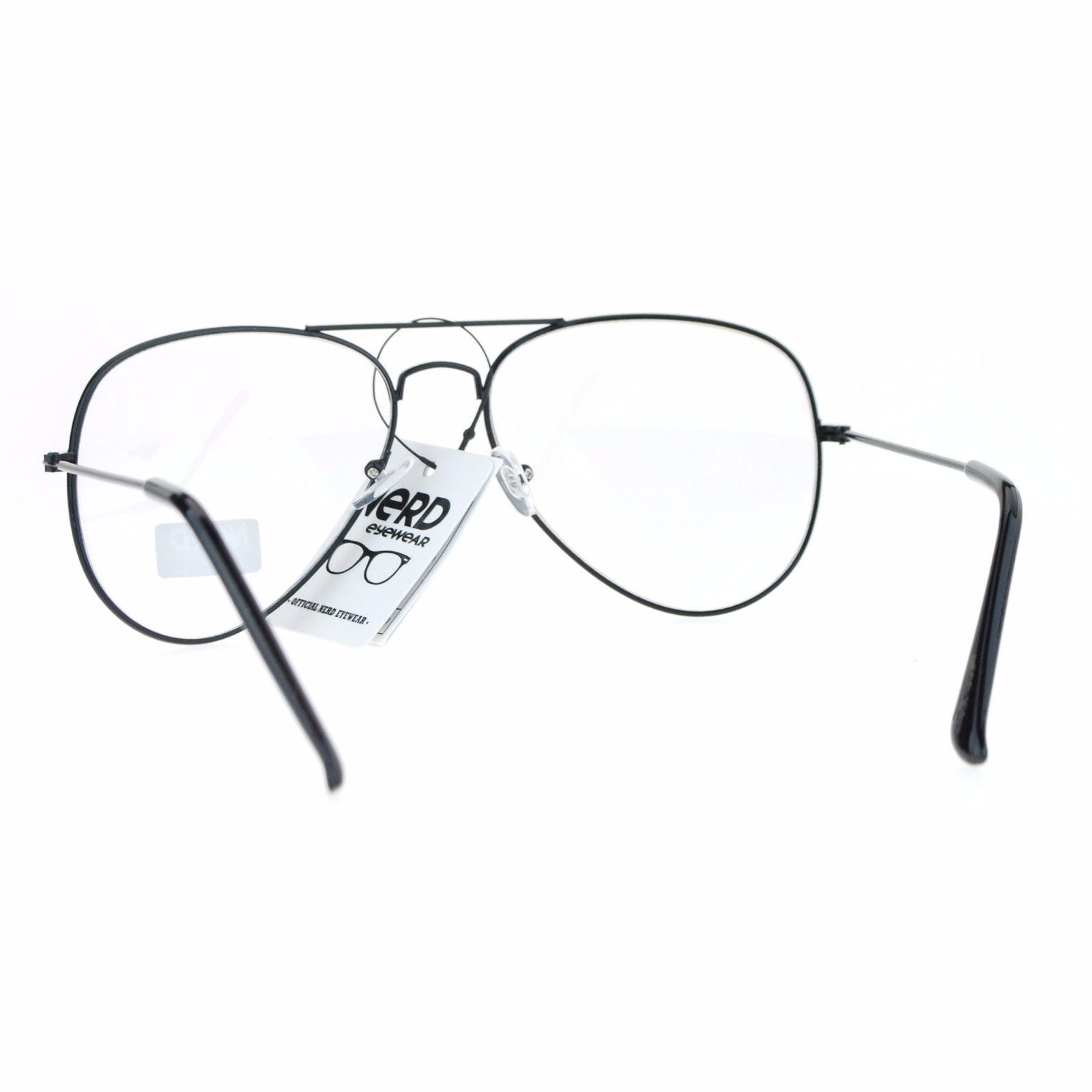Classic Metal Aviator Clear Lens Glasses Unisex Fashion Eyeglasses UV 400