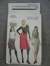 Misses 6-12 Tapered lined Skirts with asymmetrical Yoke  2 lengths  Vogu... - $7.00