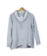 NWT CK Calvin Klein Women's Cowl Funnel Neck French Blue Waffle Pullover... - $39.99