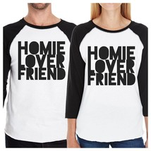 Homie Lover Friend Matching Couple Black And White Baseball Shirts - $39.99+
