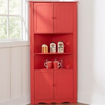 Kitchen Corner Cabinet Spacious Storage Space Shelf Country Furniture Or... - $249.98