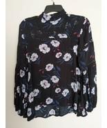 Bongo Long Sleeve Floral Top Medium - $12.87