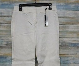 Express Editor Dress Pants 6 x 32 Women's White Straight Stretch          (D-85) image 1