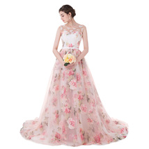 2018 Ball Gown Floral Print Long Prom Dresses Formal Gowns Evening Dress... - $135.82