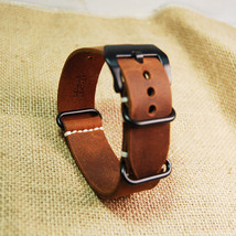 New-replacement-Watch-Band-Strap-crazy-horse-leather-nato-20-mm22mm-24mm... - $38.49
