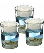 "Seashell Gel Tealight Holder 3"" - Nautical Decoration - Seashell Decorat... - $21.34"