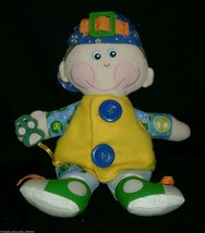 """15"""" 2001 Dapper Dan Playskool Baby Boy Learn Teach Stuffed Animal Plush Toy Doll - $22.44"""