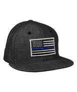 Thin Blue Line Hat -  Washed Black Denim Snapback - £17.26 GBP