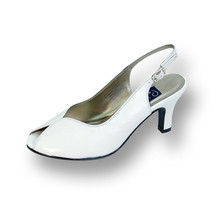 PEERAGE Zara Women Wide Width Vamp Cut Out Peep Toe Leather Heel Slingback - $44.95