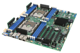 Intel S2600STQR Server Motherboard, Socket P, Dual CPU Support 16xMemory... - $939.99
