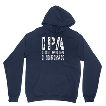 IPA Lot When I Drink Shirt Funny Beer Lover Unisex Navy Blue Hoodie Sweatshirt - $24.95+