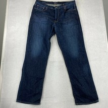 Lucky Brand Jeans Mens Size 38X34 Blue Straight Leg 181 Relaxed Pants - $18.95