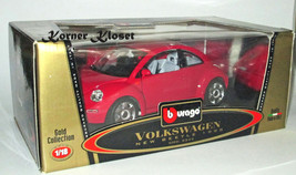 """New"" 1998 Volkswagen Beetle Hard-Top VW - Bburago Gold #3342 Diecast - NIB - $48.33"