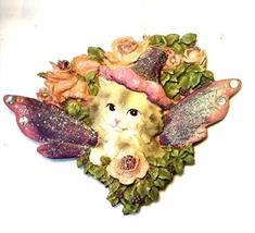 Kurt Adler Cat Angel Ornament 4 inches (Gray) - $17.33