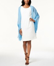 Echo Solid Crinkle Wrap & Scarf (Blue) - $29.35