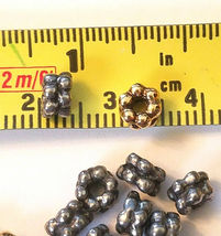 5 Pcs. Double Heishi Spacer Fine Pewter Beads - See Image For Size image 3
