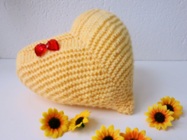 Handmade Throw Pillow- knitted decorative pillow-home decoration-birthda... - $15.00