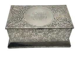 Antique Cross Art Nouveau Sterling Silver on  Bronze Box Humidor Casket ... - $275.83
