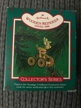 Hallmark Christmas Ornament Wooden Reindeer 1986 3 In Series Nostalgic C... - $6.95