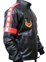 Smokey And the Bandit Burt Reynolds Black Bomber Leather Motorcycle Jacket - $69.29+