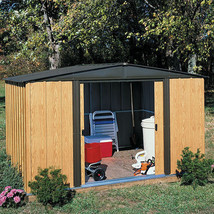 Garden Shed Storage Economy Peak Roof Steel Outdoor Tool Shed, 8x6 Backy... - $475.52