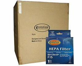 (25) Dirt Devil Pleated HEPA w/activated Charcoal Vacuum Filter F-15 Vib... - $117.48
