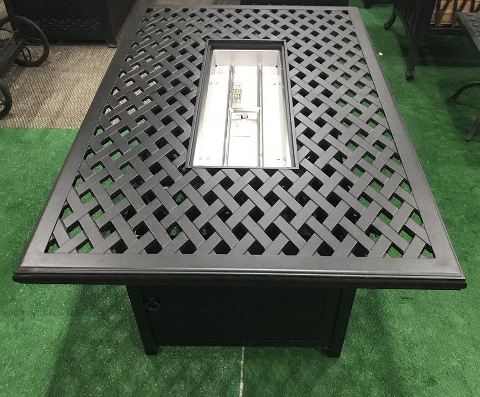 Outdoor Propane Fire Pit Coffee Table Nassau Fireplace Heater Cast Aluminum Fire Pits