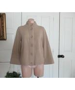 Talbots sweater cardigan mock  S camel brown Merino wool cashmere cotton... - $17.59