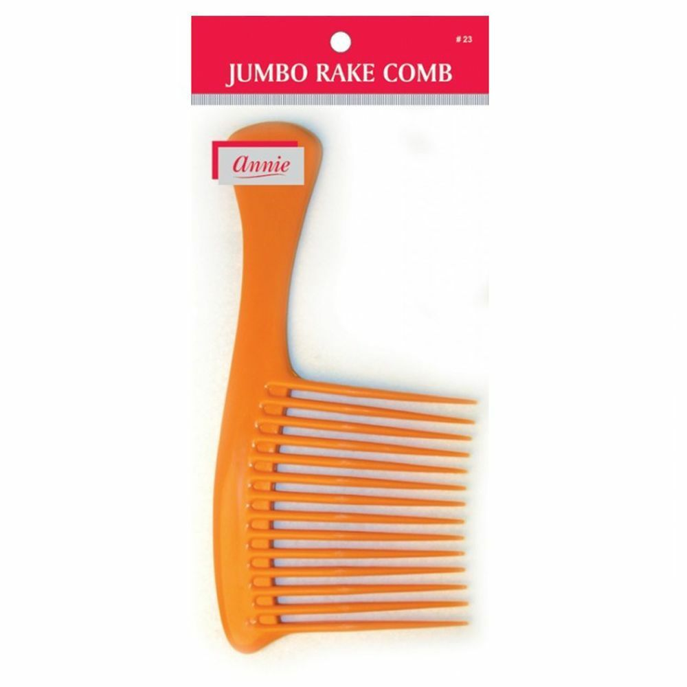 "Primary image for Annie Jumbo Rake Comb Large Handle Wide Shampoo Bone 9"" Long #23 Random Color"