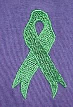 Green Ribbon Sweatshirt 3XL Lymphoma Kidney Cancer Purple Crew Neck Unisex New - $27.41