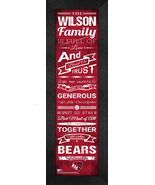 "Personalized Bridgewater State ""Bears"" 24x8 Family Cheer Framed Print - $39.95"