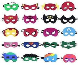 QWER Superheroes Party Masks For Children, 20 Piece - $25.33