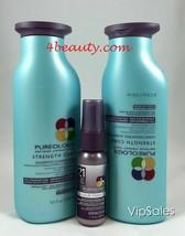 Pureology Strength Cure Shampoo & Conditioner 8.5oz FREE Fanatic 21 1oz ... - $49.49
