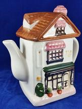 Hand-Painted Tea Shop Teapot Shaped Like An Old English Country-Side House - $14.99