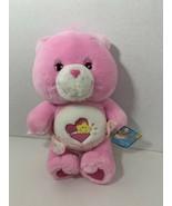 Care Bears Baby Hugs Bear plush stuffed pink teddy star hear 2002 diaper   - $14.84