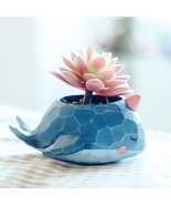 Flower Pot Resin Succulent Planter Whale Crocodile Elephant Cactus Garde... - $11.29+