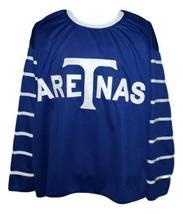 Any Name Number Toronto Arenas Retro Hockey Jersey 1918  New Blue Any Size image 4