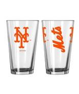 NEW YORK NY METS 16 OZ GAMEDAY TEAM LOGO PINT GLASS FROM BOELTER - $6.00
