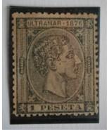 CUBA 1876 Stamp, Scott #70 King Alfonso XII  1p (black)  - $12.00