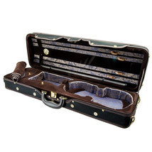 Paititi Violin Oblong Case VNCQF28 Lightweight with Hygrometer Black/Bla... - $129.99