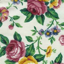 Longaberger Small Basket W Garden Splendor Fabric Liner & Plastic Protec... - $27.67