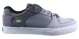 Supra Homme Vaider Bas Décoloré Gris/Blanc Nylon Skateboard Shoes Basket S36042 image 2