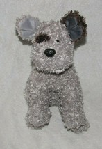 RARE TY Classic Plush Beanie Buddy Puppy Dog Gray Brown Eye Spot Curly F... - $34.64