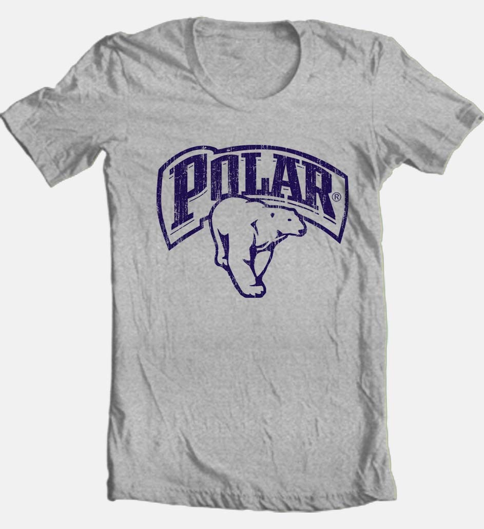 Polar beer t shirt heather grey retro style graphic tee shop buy online