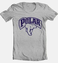 Polar Beer T-shirt cotton blend heather grey graphic printed tee image 1
