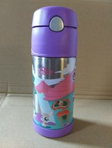 HTF Littlest Pet Shop FUNTAINER Thermos 12oz Insulated Bottle Cold Drink... - $16.99
